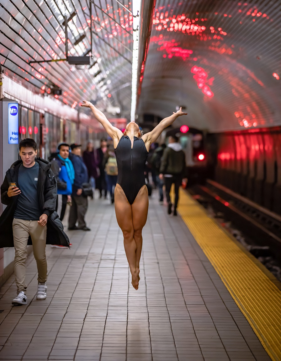 Mr. NYC Subway - Taking Flight - Model: @femkeaaldering